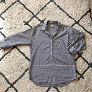 3/4 sleeve JCrew pullover button -up